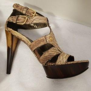 Stuart Weitzman Sexy Python Sandals